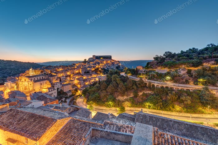 Sunrise at Ragusa Ibla in Sicily
