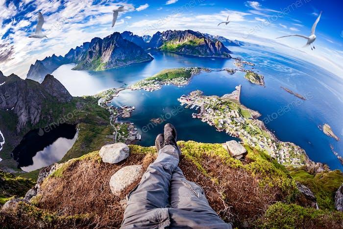 Lofoten archipelago Fisheye lens.