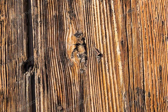 Nahaufnahme der alten Holzstruktur