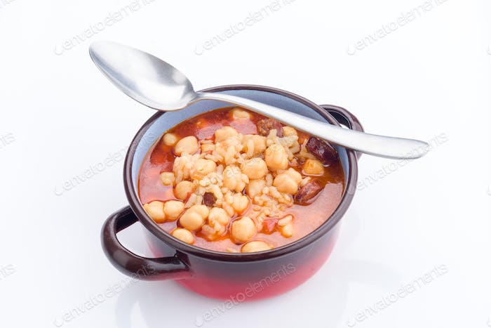 real homemade chickpea stew