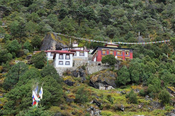 Edmund Hillary Monastery in Khumjung village, Nepal Himalayas