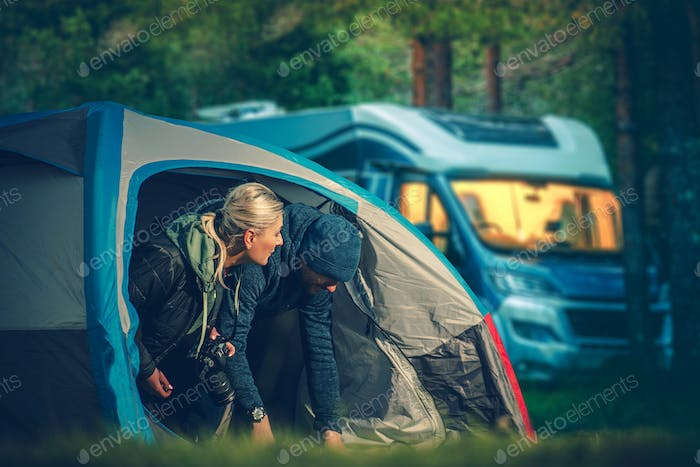 Couples Tent Camping