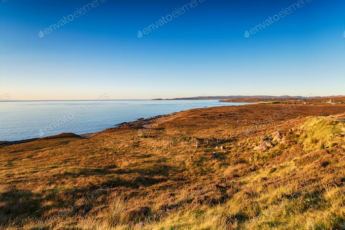 The Scottish coastline between South Erradale and Red Point