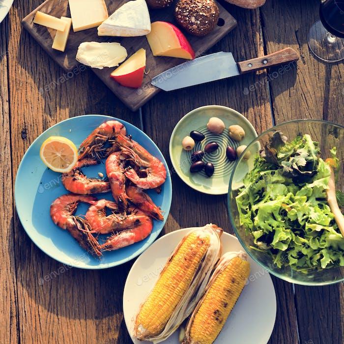 Esstisch Essen im Freien Konzept