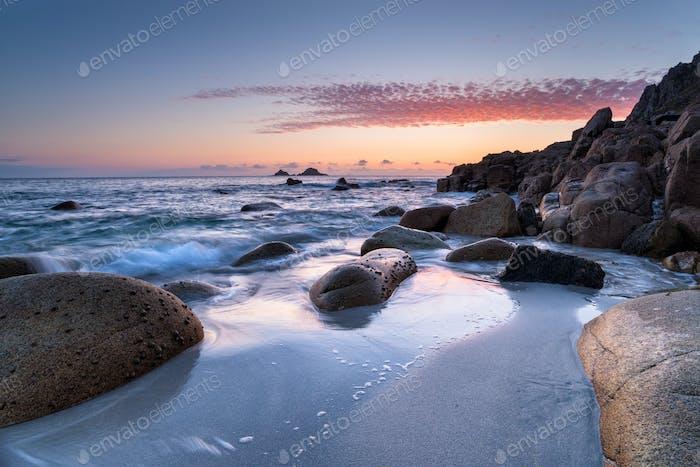 Cornish Beach Sunset