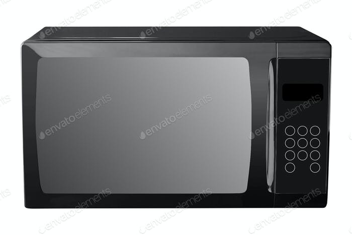 microwave oven isolated on a white