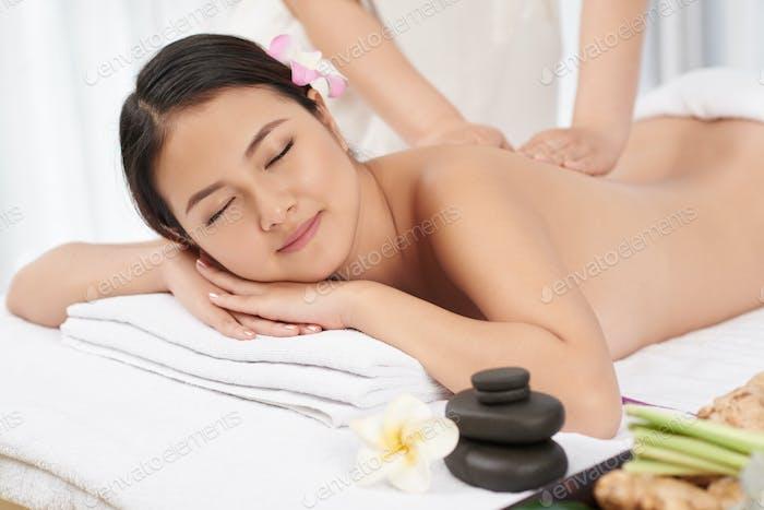 Massage-Sitzung