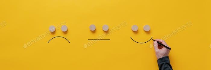 Customer feedback and satisfaction conceptual image