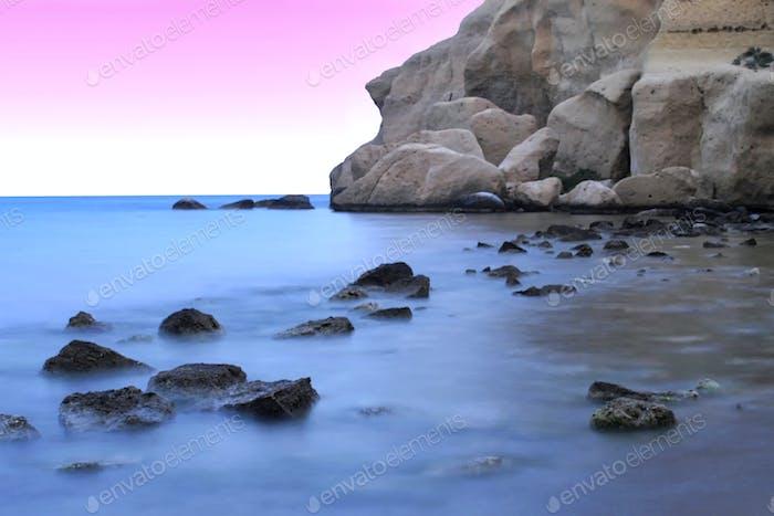 Calacerrada Beach, Mittelmeer, Murcia, Spanien