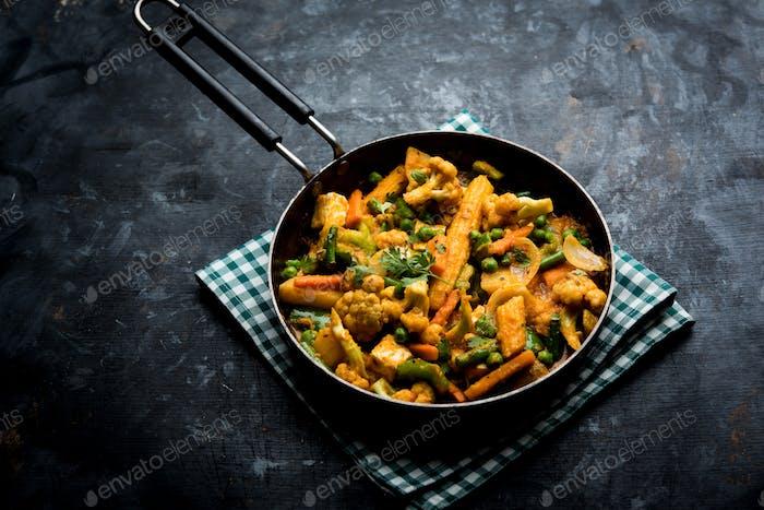 Indisches Gemischtes Gemüse Masala