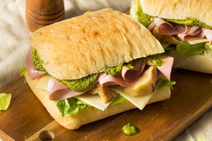 Homemade Italian Panino Sandwich