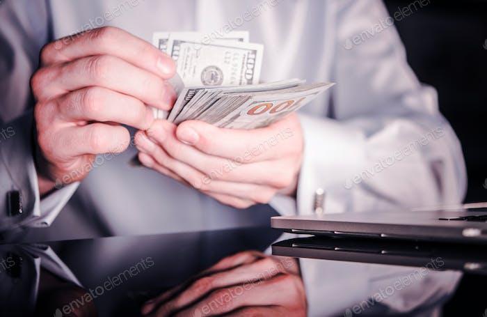 Banker Zählen Bargeld