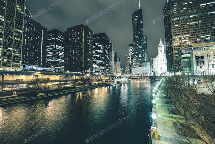 Chicago River in Downtown