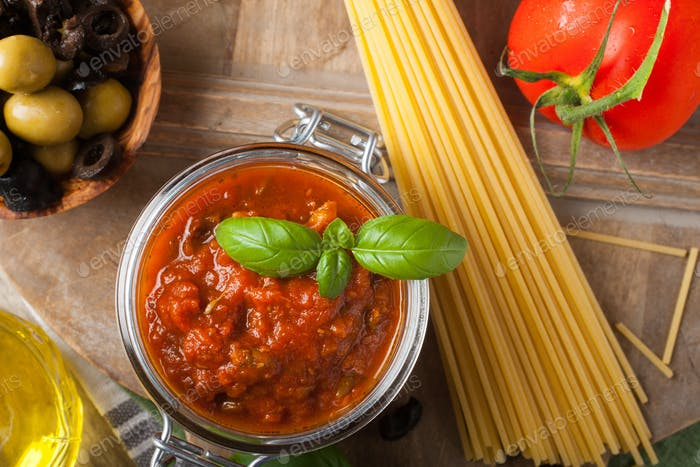 Traditional homemade tomato sauce