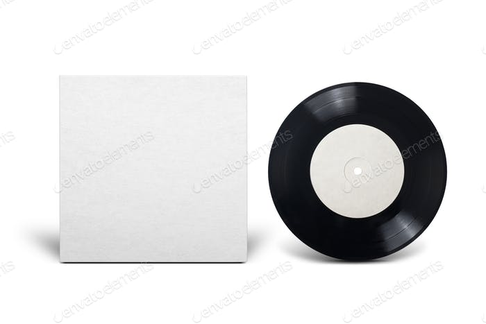 Clean cardboard cover with 7-inch vinyl single record.