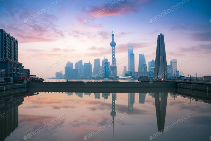 beautiful morning in shanghai