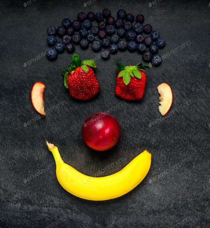 Fruit Smiley Face