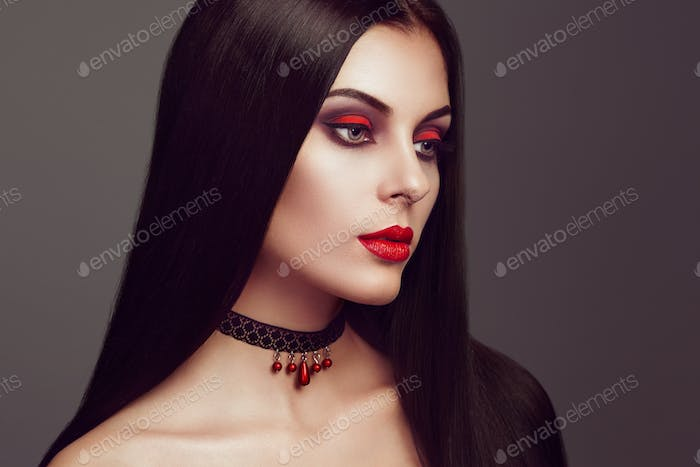 Halloween vampire woman portrait