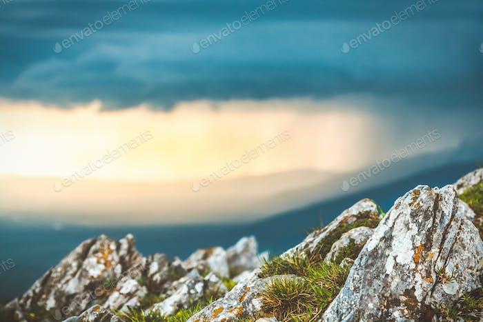 Rain in mountains