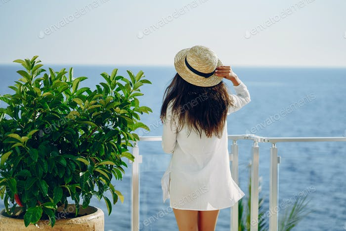 girl near sea