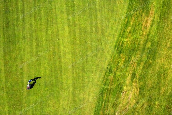 Vista superior Jugar al golf