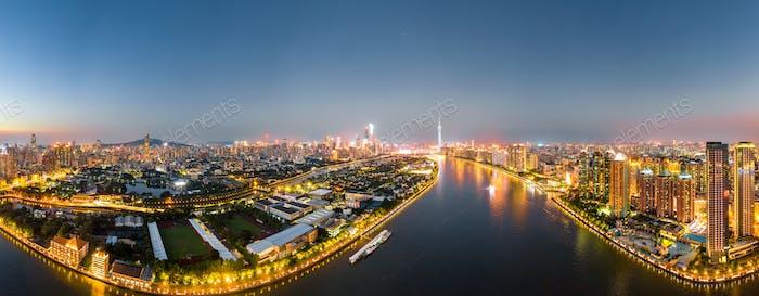 aerial photo of guangzhou
