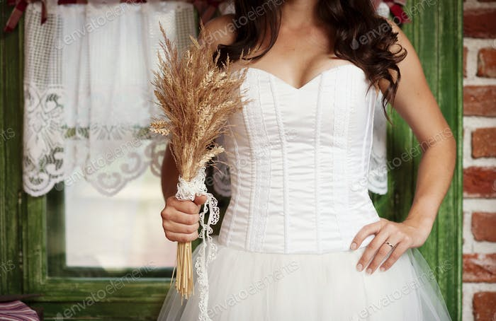 Detail of bridal dress