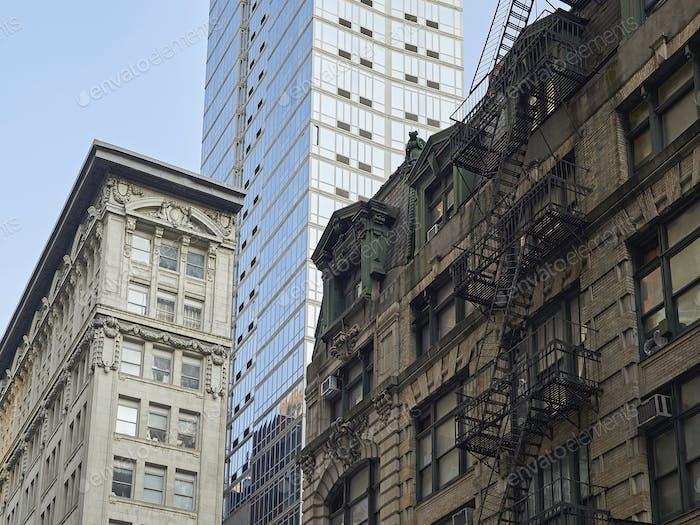 Manhattan buildings, New York city