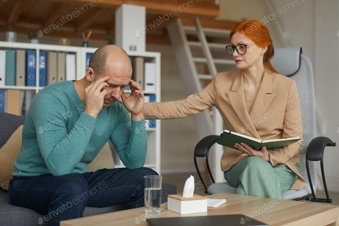 Man visiting the psychologist