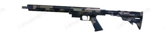 Gewehr isoliert auf weiß