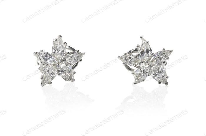Beautiful Diamond Marquise earrings studs pair