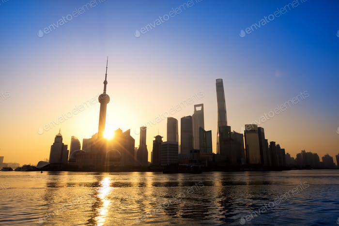 Shanghai at sunrise
