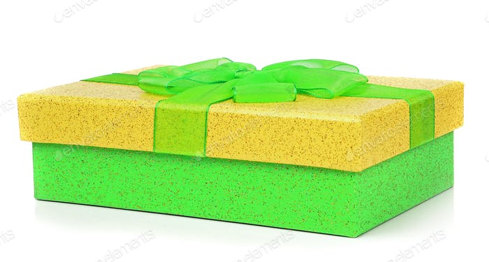 A Green and Yellow Gift Box