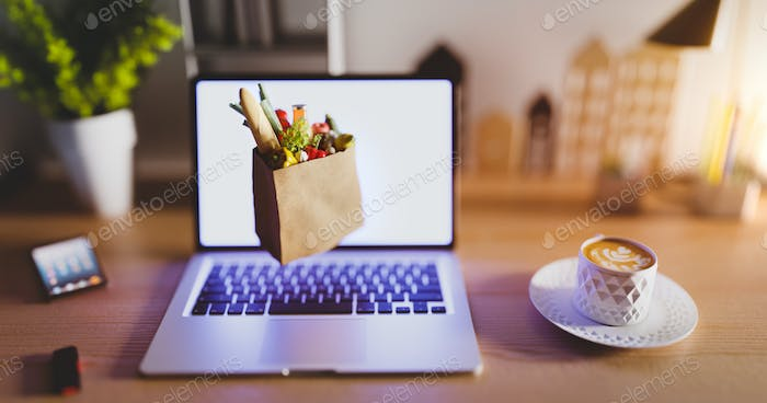 Online shopping - the Internet grocery store.