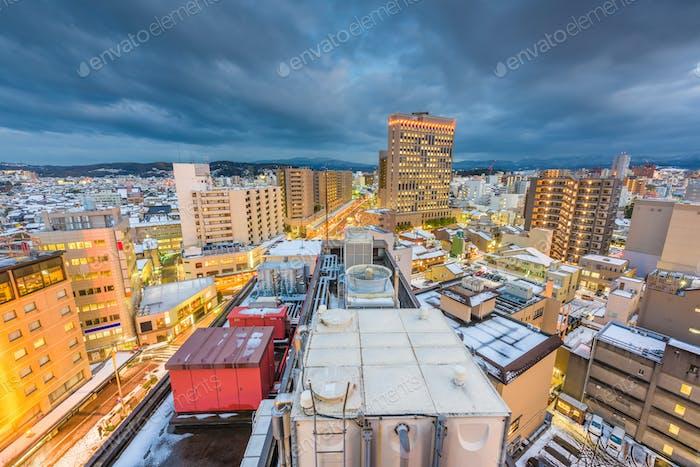 Kanazawa, Japan Downtown Cityscape