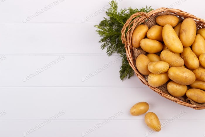 raw baby potatoes