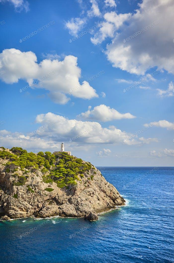 Faro de Capdepera en un hermoso Día, Mallorca.