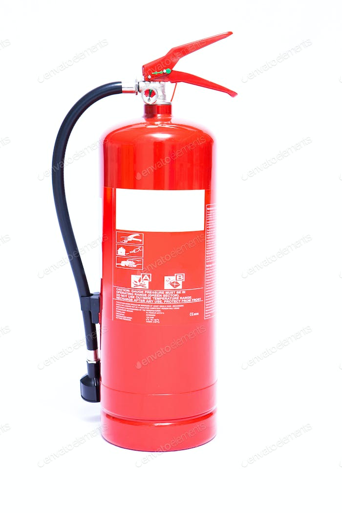 Large red foam fire extinguisher