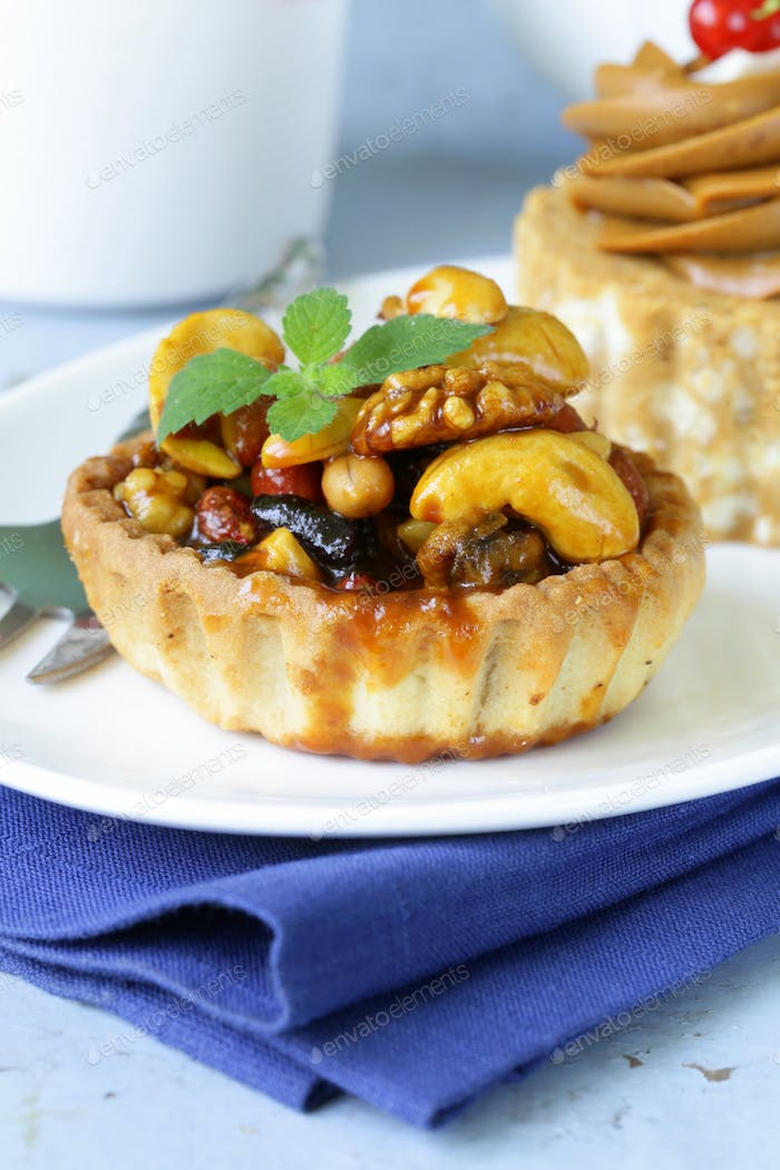 Small Dessert Pastries With Nuts