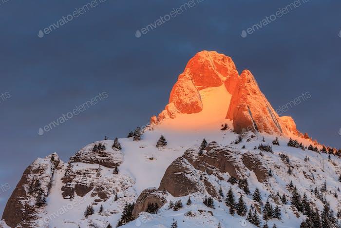 sunrise in Ciucas Mountains, Romania