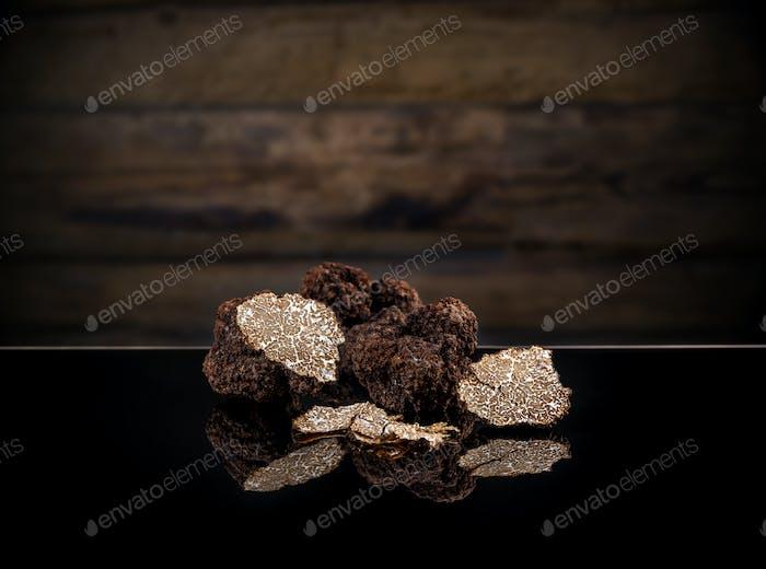 Black autumn truffles
