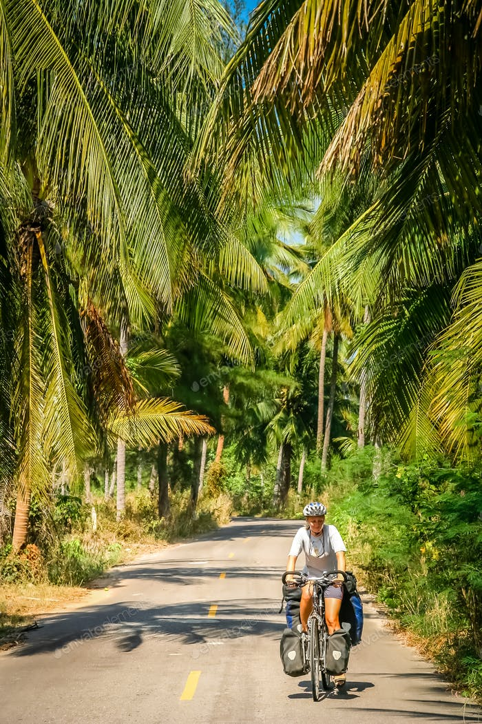 Radfahren durch Thailand