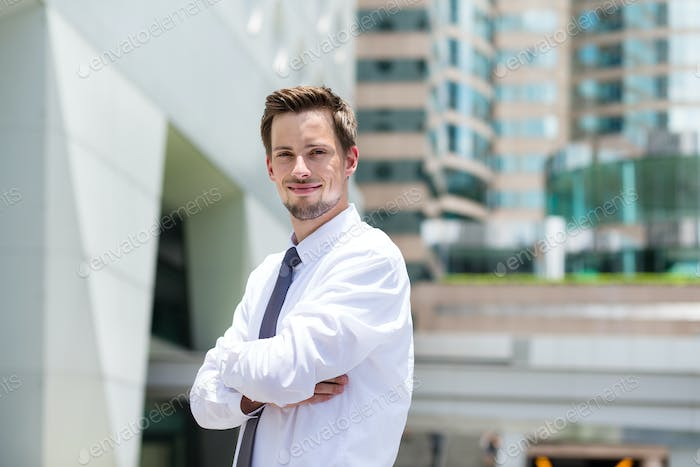 Young Businessman at outdoor
