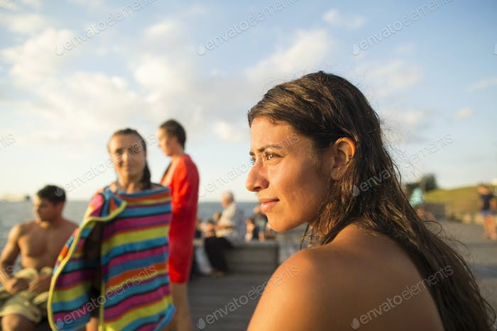 Young woman looking at view