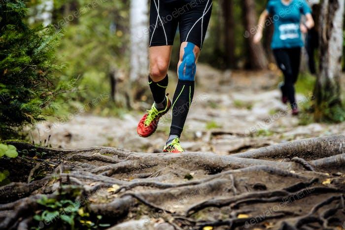 Running Marathon Runner in Forest