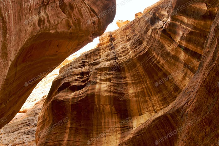 Ancient canyon in Petra