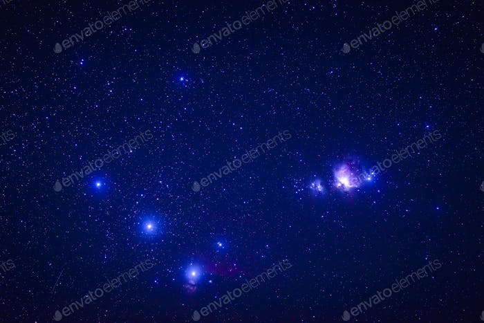 Galaxies in starry night sky