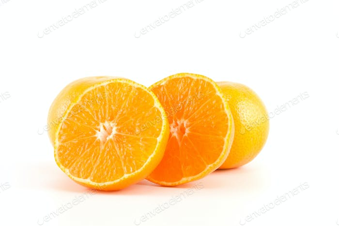 mandarins or tangerines and a slices