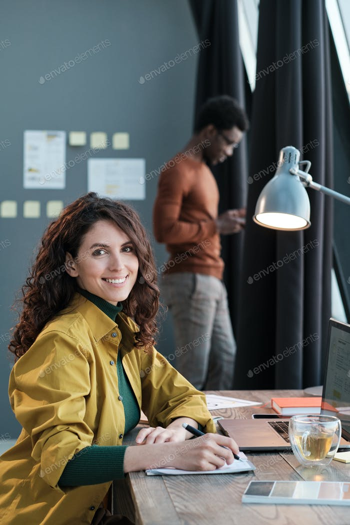 People working at office