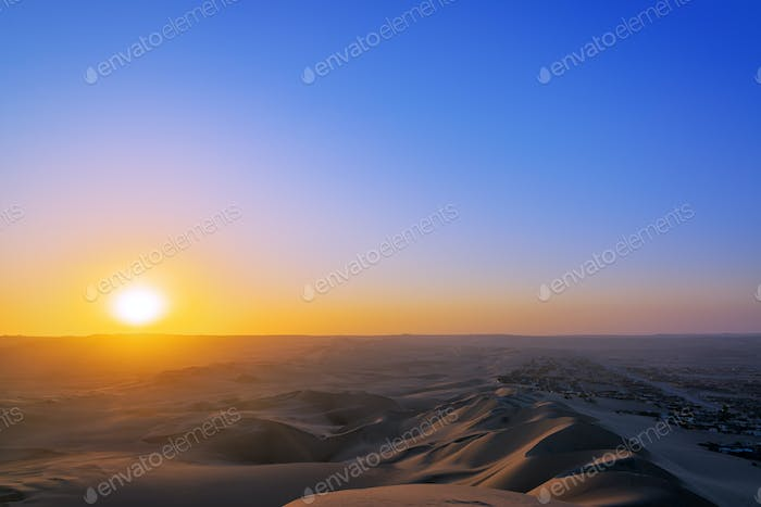 Sunset in a Desert